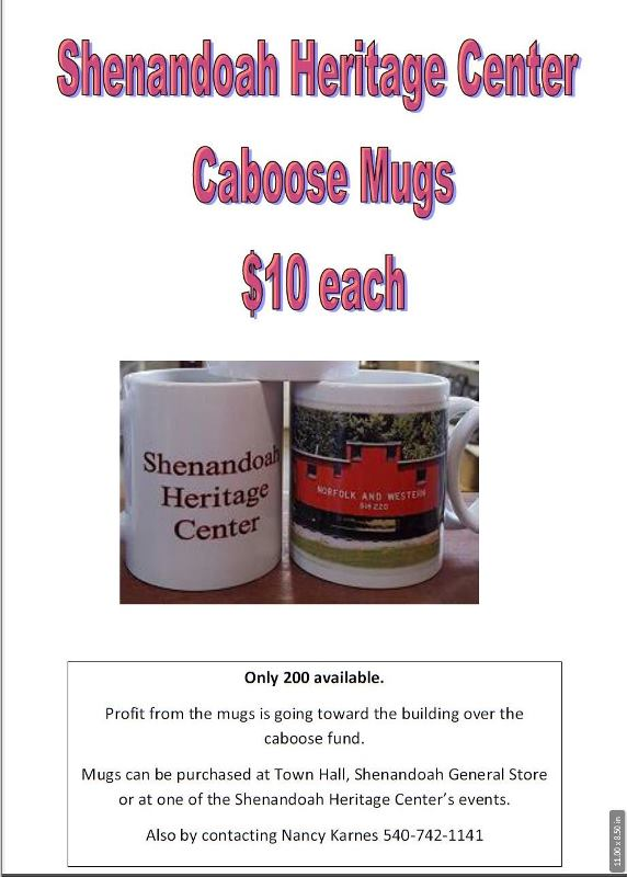 Shenandoah Heritage Center Caboose Mugs & BBQ Chicken Dinner