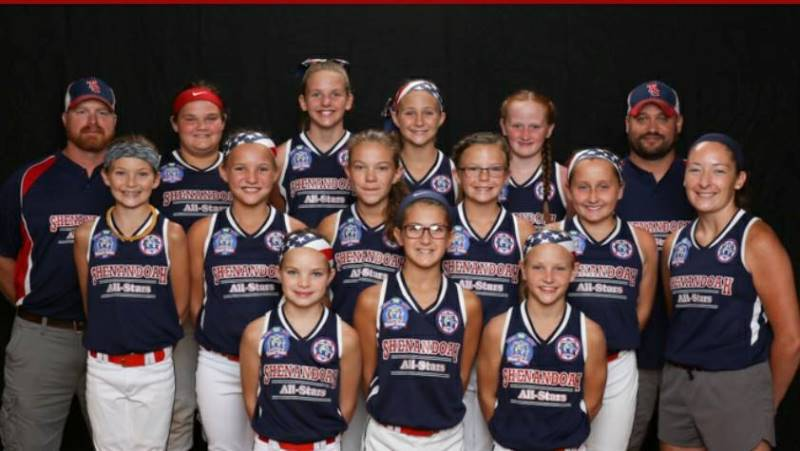 2017 10 & 12 U Softball Team