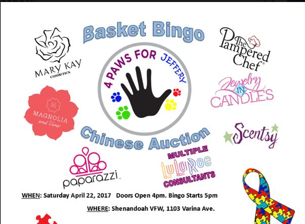 Basket Bingo and Chinese Auction at VFW in Shenandoah